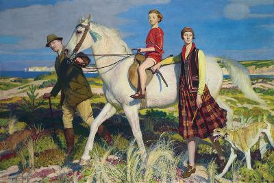 Four Loves I Found, a Woman, a Child, a Horse and a Hound-George Spencer Watson-Giclee Print