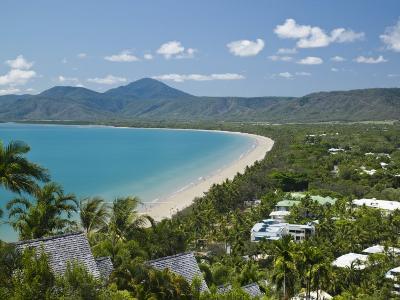 Four Mile Beach and Trinity Bay, Port Douglas, North Coast, Queensland, Australia-Walter Bibikow-Photographic Print