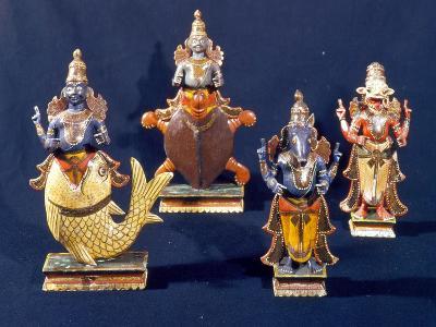 Four of the Incarnations of Vishnu--Giclee Print