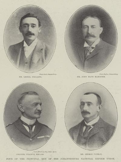Four of the Principal Men of the Johannesburg National Reform Union--Giclee Print