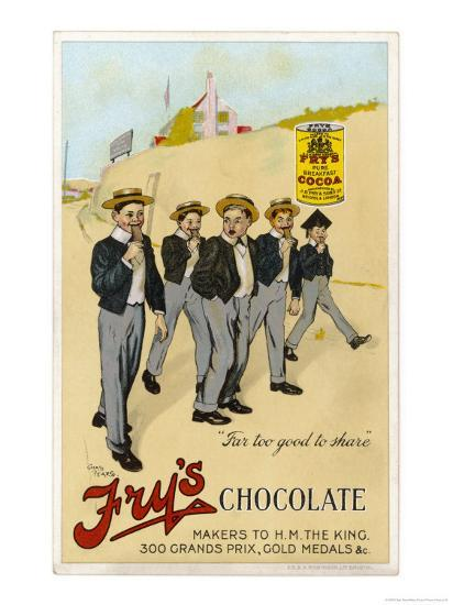 Four Public Schoolboys Enjoy Their Bars of Fry's Chocolate-Chas Pears-Giclee Print