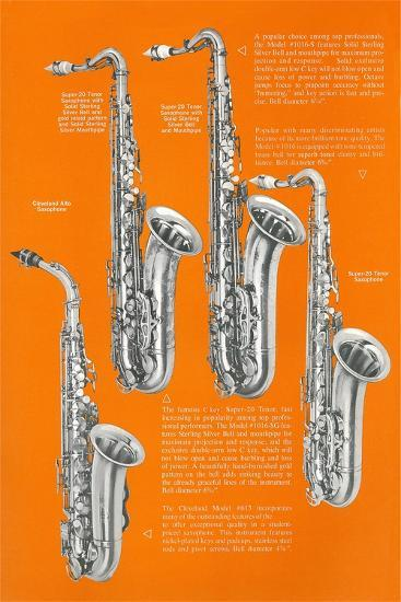 Four Saxophones--Art Print