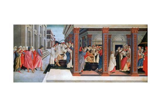 Four Scenes From The Early Life Of Saint Zenobius C1500 Giclee