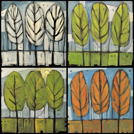 Four Seasons Tree Series Square-Tim Nyberg-Premium Giclee Print