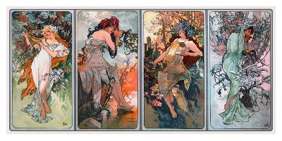 Four Seasons-Alphonse Mucha-Giclee Print