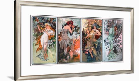 Four Seasons-Alphonse Mucha-Framed Giclee Print