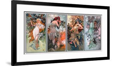 Four Seasons-Alphonse Mucha-Framed Giclee Print