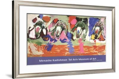 Four Sheep-Menashe Kadishman-Framed Art Print