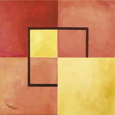 Four Squares with Lines-Peggy Garr-Art Print