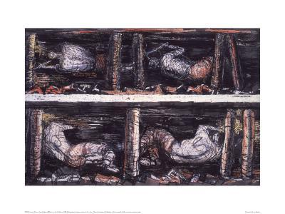 Four Studies of Miners at the Coalface, 1942-Henry Moore-Giclee Print