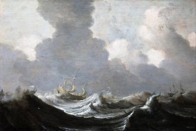 Four Vessels Running Before a Gale, 1630-Pieter the Elder Mulier-Giclee Print
