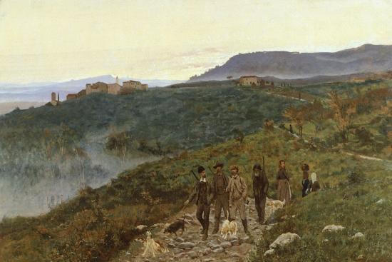 Four Veterans, Circa 1885-Eugenio Cecconi-Giclee Print