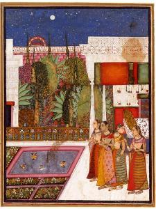 Four Women in a Palace Garden, Mid of the 18th C