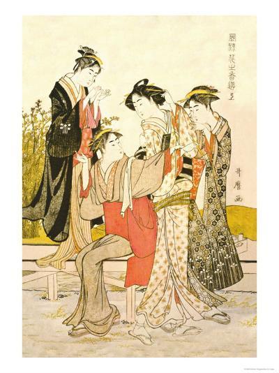 Four Women-Kitagawa Utamaro-Art Print