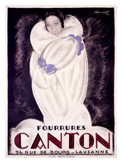 Fourrures Canton, 1924-Charles Loupot-Giclee Print