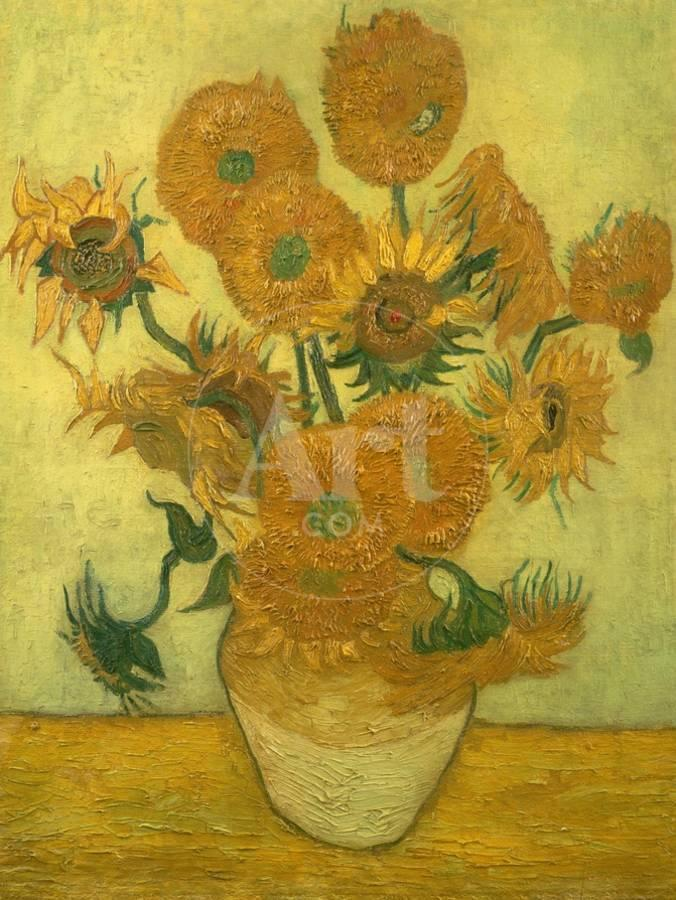 Fourteen Sunflowers In A Vase 1889 Giclee Print By Vincent Van Gogh