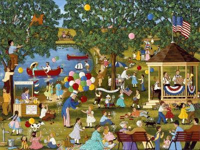 Fourth of July Lake-Sheila Lee-Giclee Print