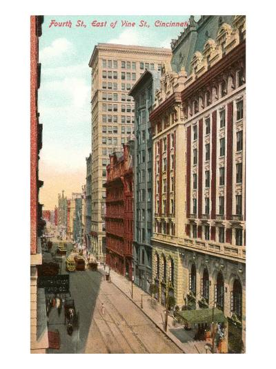 Fourth Street, Cincinnati, Ohio--Art Print