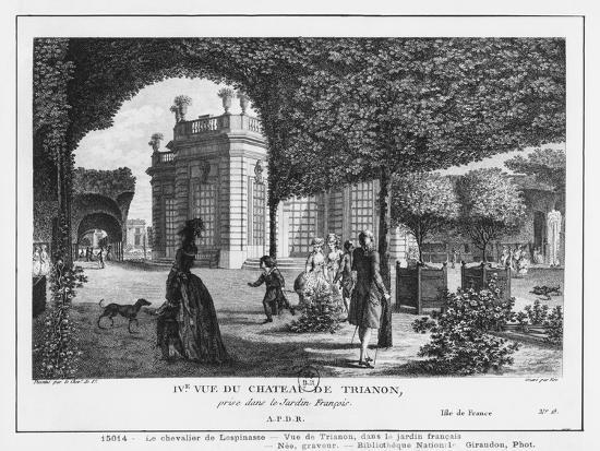 Fourth View of Trianon, Taken in the French Garden, Engraved by Francois Denis Nee (1732-1817)-Louis-Nicolas de Lespinasse-Giclee Print