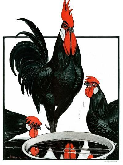 """Fowl Reflections,""October 27, 1923-Paul Bransom-Giclee Print"
