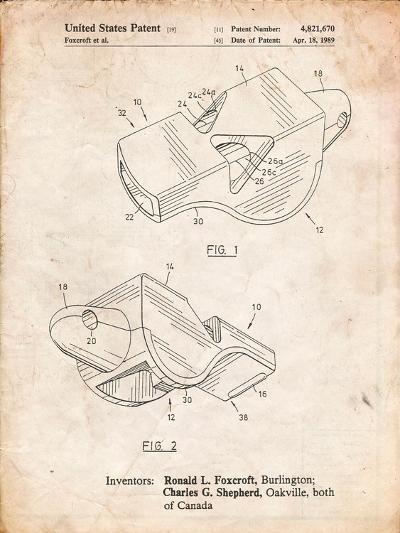 Fox 40 Coach's Whistle Patent-Cole Borders-Art Print