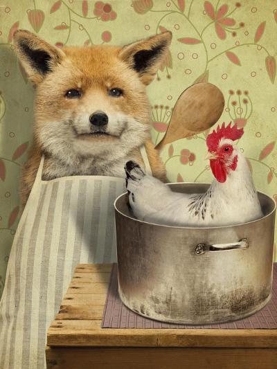 Fox and Chicken-J Hovenstine Studios-Giclee Print