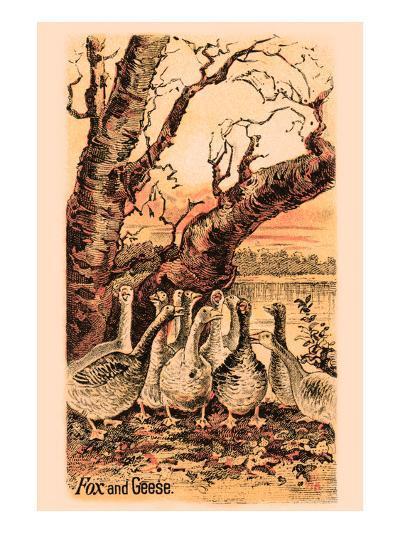 Fox and Geese--Art Print