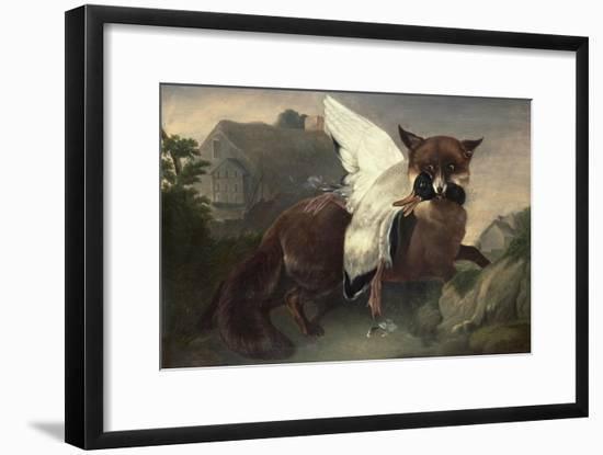 Fox and Goose, C.1835-John James Audubon-Framed Premium Giclee Print