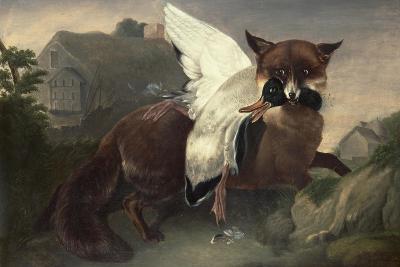 Fox and Goose, C.1835-John James Audubon-Giclee Print