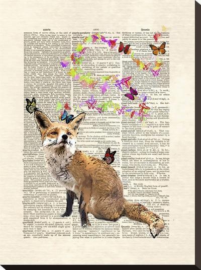 Fox Butterflies-Matt Dinniman-Stretched Canvas Print