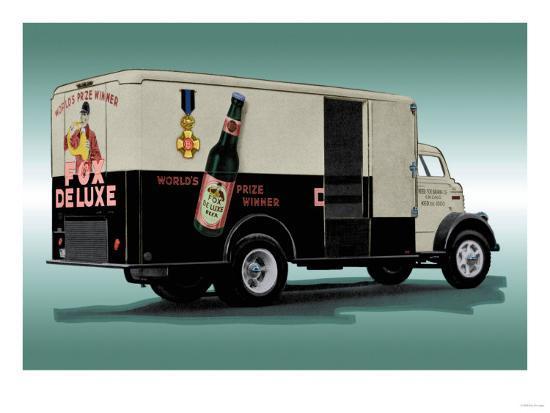 Fox Deluxe Beer Truck--Art Print
