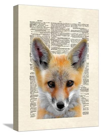 Fox Face-Matt Dinniman-Stretched Canvas Print