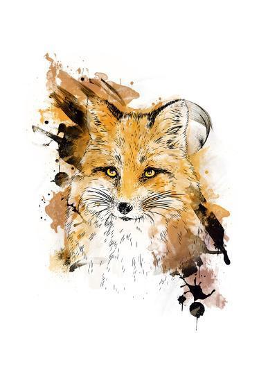 Fox. Graphic Drawing.-MargaritaSh-Art Print