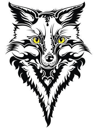 Fox Head Tattoo Art Print Worksart Art Com