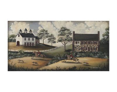 Fox Hunt-Barbara Jeffords-Art Print