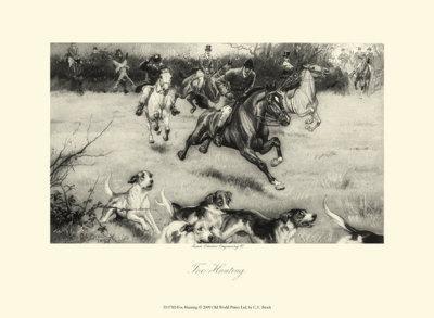 Fox Hunting-C^e^ Brock-Art Print