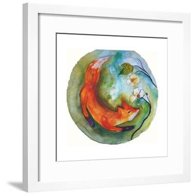 Fox in the Round-Wyanne-Framed Giclee Print
