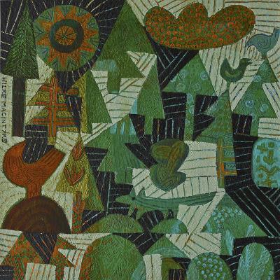 Fox in the Woods-Hilke Macintyre-Giclee Print