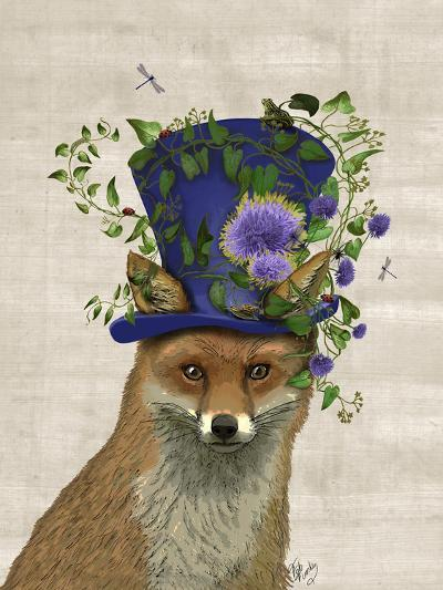 Fox Mad Hatter-Fab Funky-Art Print