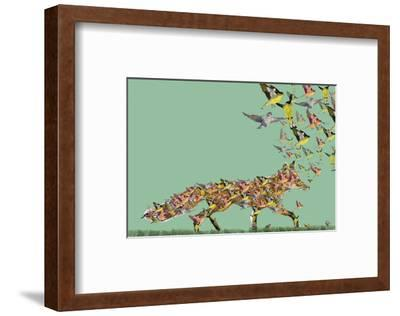 Fox of birds-Claire Westwood-Framed Art Print