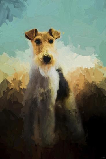 Fox Terrier on Alert-Jai Johnson-Giclee Print