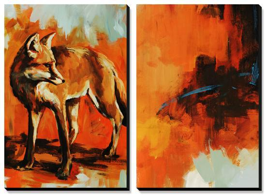 Fox Trost and Red Tail-Sydney Edmunds-Canvas Art Set