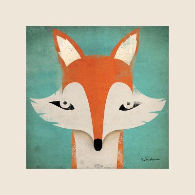 Fox with Border-Ryan Fowler-Art Print