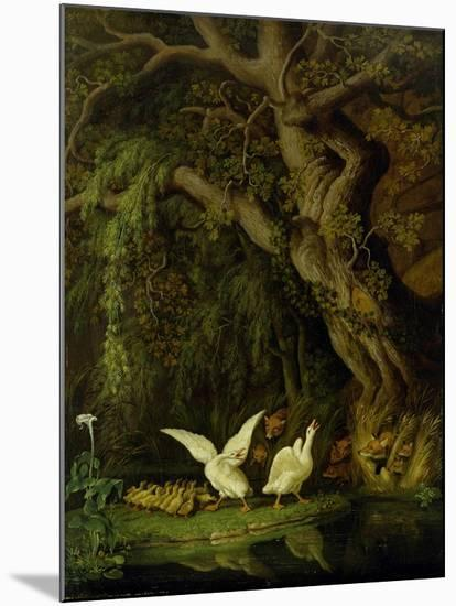 Foxes and Geese-Johann Heinrich Tischbein-Mounted Giclee Print