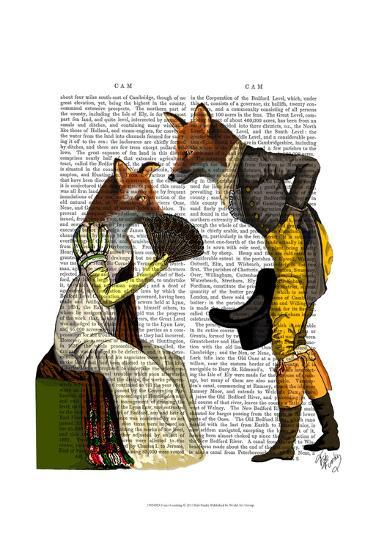 Foxes Courting-Fab Funky-Art Print