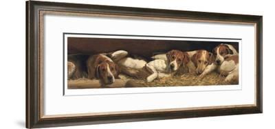 Foxhounds At Rest-Charles Church-Framed Collectable Print