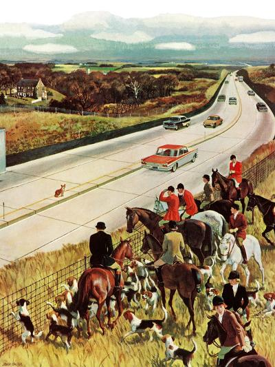 """Foxhunters Outfoxed,"" December 2, 1961-John Falter-Giclee Print"