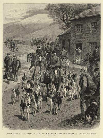 Foxhunting in the North, a Meet of the North Tyne Foxhounds on the Border Hills-John Charlton-Giclee Print