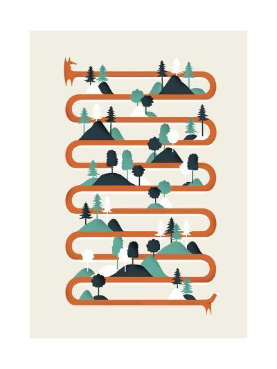 Foxy Stripes-Robert Farkas-Giclee Print