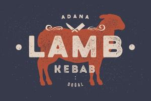 Lamb, Kebab - Vintage by foxysgraphic